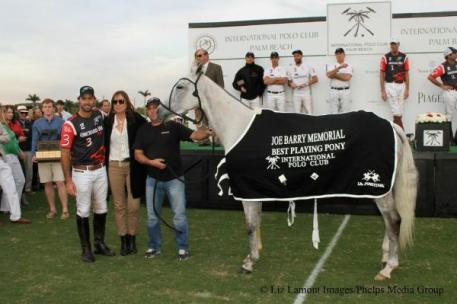 """Shelty"" for Facundo Pieres was Best Playing Pony. Photo: Liz Lamont Images/Phelps Media Group."