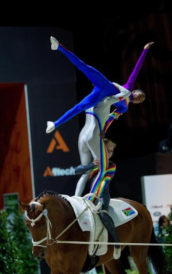 The South African Vaulting squad are a big hit with spectators at the Alltech FEI World Equestrian Games™ 2014 in Normandy.  (Jon Stroud/FEI)