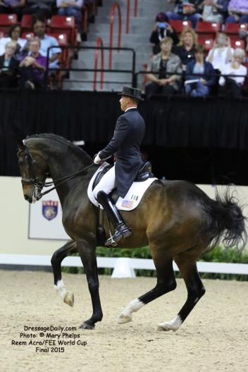 Edward Gal and Glock's Undercover, Reem Acra FEI World Cup Dressage Final 2015 Photo: © Mary Phelps