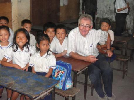 Tom MacGuinness at the JustWorld project, PIO, in Cambodia