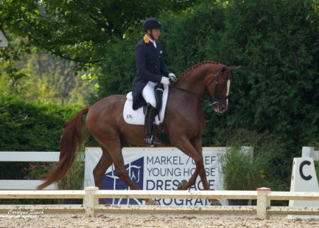 Donatus and Endl Ots topped the Developing Horse Grand Prix (Carolynn Bunch Photography)