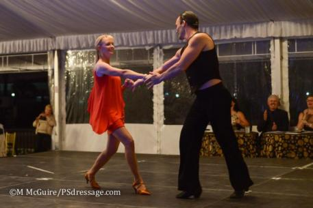 Katherine Bateson-Chandler shows off her dancing skills at the 2014 Prancing with the Stars fundraiser in Wellington