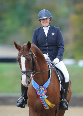 Mary Jordan and Rubicon 75 at the USDF Region 8 Championships presented by New England Dressage Association September 18-21, 2014 (Photo: ©Amy E. Riley/STUDIO EQUUS)