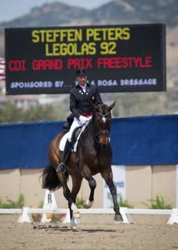 Steffen Peters & Legolas 92 win the Grand Prix Freestyle at the Capistrano Dressage International CDI. (Photo: Terri Miller)