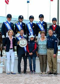 USA I Team stands atop the podium at the Stillpoint Farm FEI Nations Cup (Photo: SusanJStickle.com