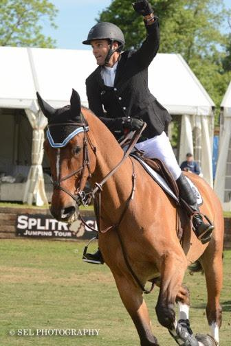Ramiro Quintana celebrates after his clear round on  Michael Smith's Versus (Photo: (c)SEL Photography)