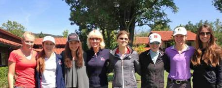 Participants at the USEF Developing and Youth Clinic - Ariel Thomas, Eva Larson, Francesca Sheld, Charlotte Bredahl, Veronica West, Catherine Chamberlain, Stella Leitner and Danielle Bonovito