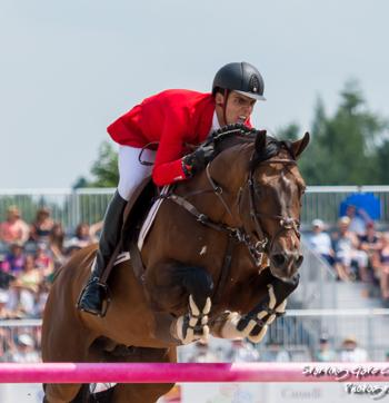 Emanuel Andrade, 18, of Venezuela placed sixth following a jump-off for the individual bronze medal in his Pan American Games debut.  Photo © Starting Gate Photography
