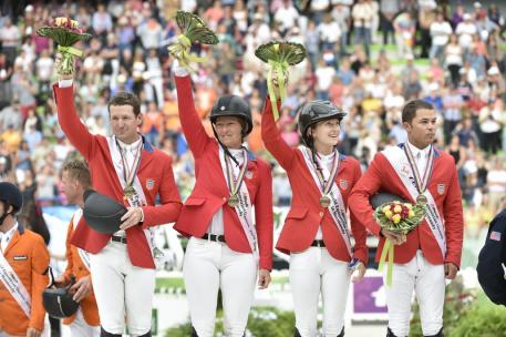 U.S. Show Jumping Team Win the Bronze medal. Photo by Diana DeRosa