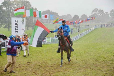 United Arab Emirates, SE Sheikh Hamdan bin Mohamed al Maktoum, who won the Gold medal. Photo by Diana DeRosa