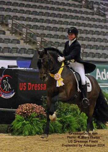 Jessica Wisdom, from Battle Ground, Wash., placed third in the Grand Prix with a 68.5 percent onboard North Forks Cardi, a 13-year-old Welsh Cob stallion by Canterbrook Llwynog out of Hastening Mirage by Bayford True Patriot owned by Wisdom and Cynthia Miller. Photo: Mary Phelps