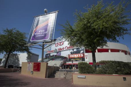 The Thomas & Mack Arena in Las Vegas, USA where the FEI World Cup™ 2015 Finals will get underway on Thursday 16 April. (FEI/Dirk Caremans)