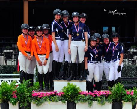 Zone 3 Team 2 captures Adult Amateur Team Gold at the 2015 USHJA Children's and Adult Amateur Jumper South Regional Championships. (Photo: Barry Kost Photography)