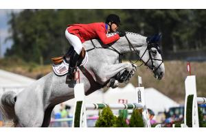 McLain Ward and Clinta picked up just a single time fault to help Team USA move into silver medal spot ahead of tomorrow's team medal-decider in the Bank of America Jumping Championship at the FEI World Equestrian Games™ 2018 in Tryon, USA today. (FEI/Martin Dokoupil)