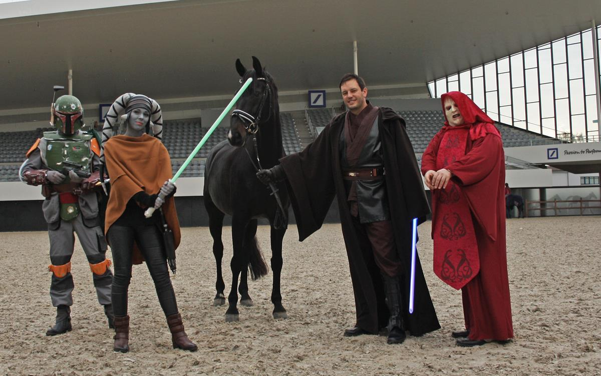 Darth Vader Captain Jack Sparrow And Indiana Jones Meet At Chio Aachen 2016 Horses Daily