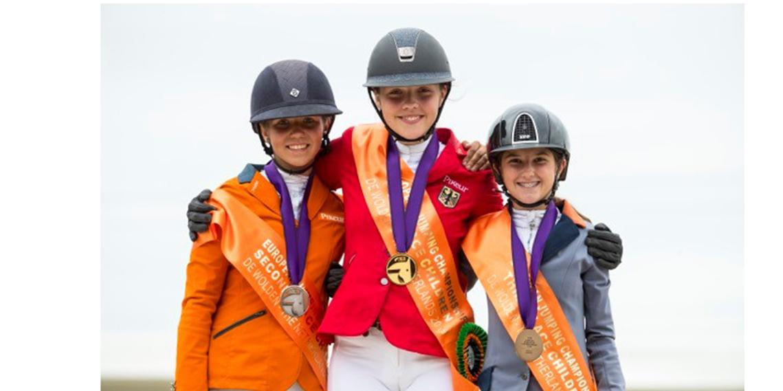 Children's Championship-FEI Jumping European Championships for Children, Juniors and Young Riders 2019- Zuidwolde (NED)-Emma Bocken (silver) ,Tiara Bleicher (gold) and Aya Miteva-2.jpg