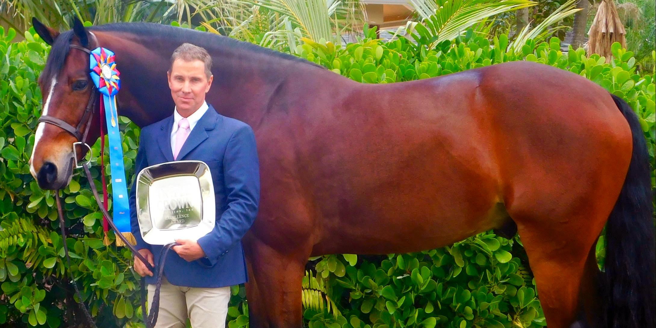Christopher Payne and Gratitude Winning Triple Crown Green Hunter Division Champion and Triple Crown Excellence Award (photo JRPR).jpg