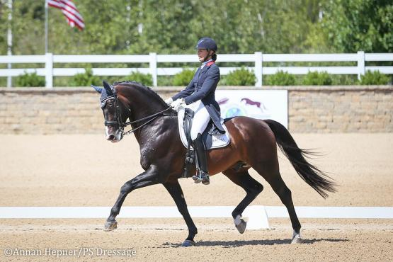 Charlotte Jorst and Kastel's Nintendo (Photo: Annan Hepner/PS Dressage)
