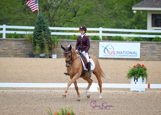 USEF Pony Rider Dressage National Championship - Ellanor Boehning and Kabam (Photo: SusanJStickle.com)