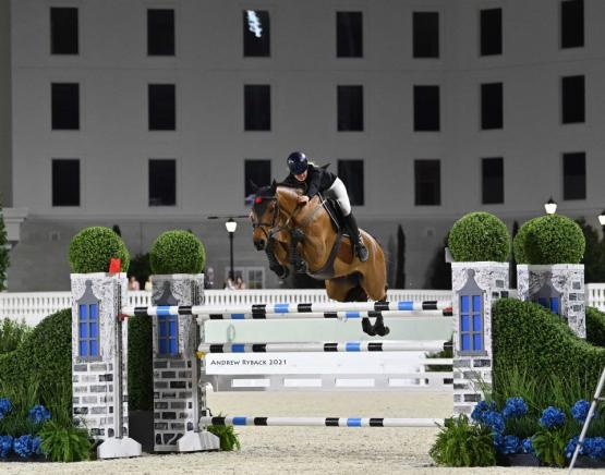 Kristen VanderVeen and Bull Run's Prince of Peace won $75,000 WEC – Ocala Grand Prix 1.50m