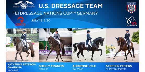 US Dressage Team for Aachen CHIO 2019