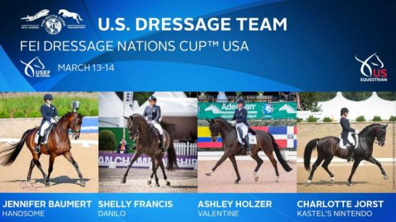 US Dressage Team for 2019 Nations Cup