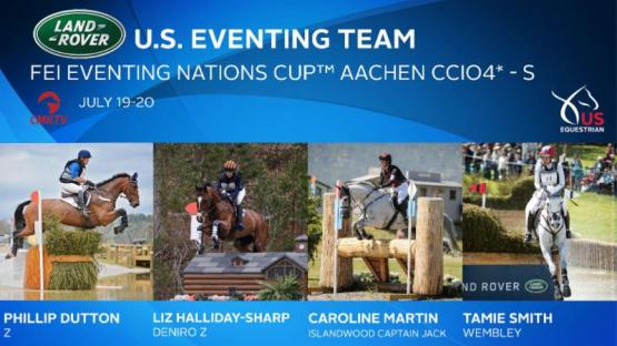 US Eventing Team For Aachen
