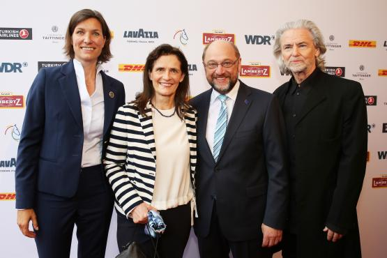 The President of the European Parliament Martin Schulz, came with his wife Inge for Media Night