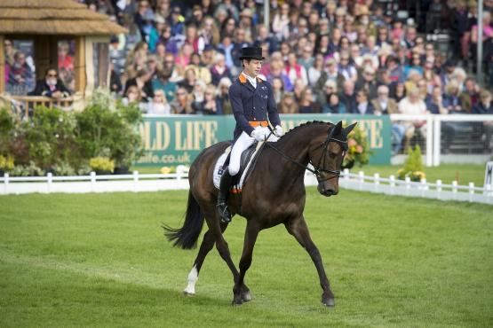 Australia's Christopher Burton and Graf Liberty produce a stunning test to take the lead after dressage at Badminton, fourth leg of the FEI Classics™, in a day of top 4* Eventing action that saw a complete change at the top of the leaderboard