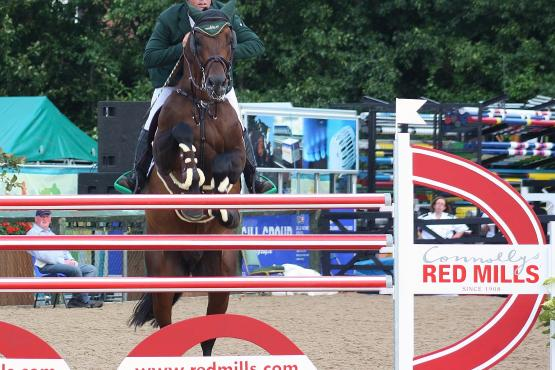 2014 Connolly's RED MILLS 7 & 8 year old International winner Cian O'Connor and Aramis 573 (Photo: Sonya Dempsey)