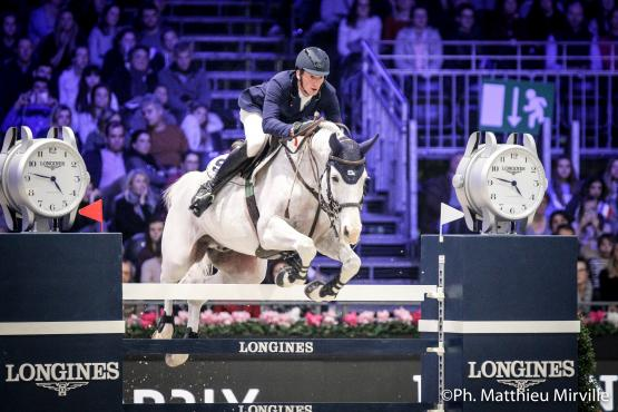 Daniel Deusser (GER) riding Cornet D'Amour during the LONGINES GRAND PRIX, Longines Masters Paris at Paris Nord Villepinte on December 03rd, 2017 in Paris, France
