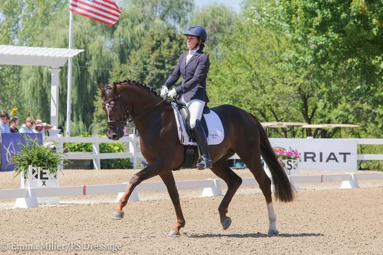 Emily Miles and Sole Mio (Photo: Emma Miller/PS Dressage)