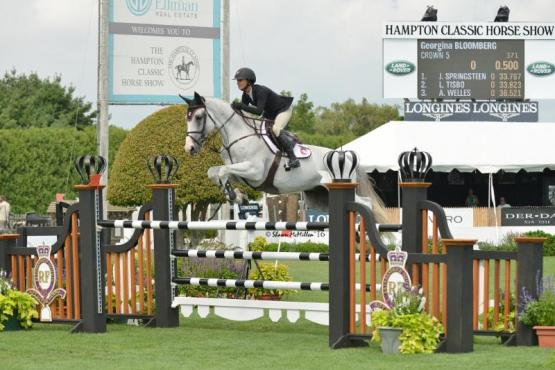 Georgina Bloomberg and Crown 5 Win $10,000 Royalton Farms Open Jumper Class