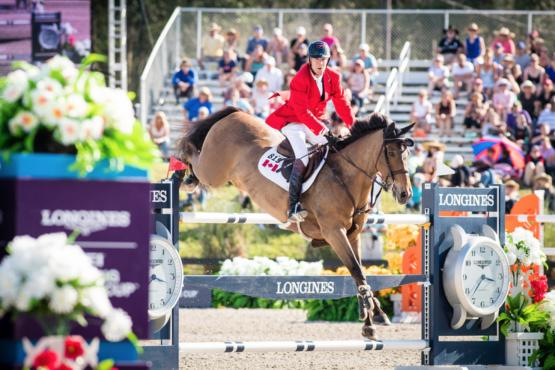 Longines FEI Nations Cup™ Ocala FL Ian Millar riding Dixon CAN Photo FEI/Shannon Brinkman