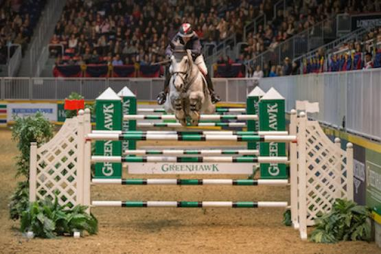 Jill Henselwood and Farfelu du Printemps, owned by John Madigan, won the $100,000 Greenhawk Canadian Show Jumping Championship at the 2015 Royal Horse Show® on Saturday, November 7.