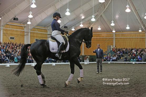Carl Hester teaching Karin Persson