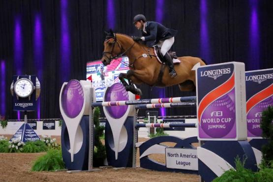 Peter Lutz (USA) and Robin de Ponthual claim victory of the $100,000 Longines FEI World Cup™ Jumping North American League qualifier in Las Vegas (USA)