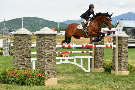 Laura Chapot won the $20,000 FarmVet 1.40-Meter Stake Class on Out of Ireland