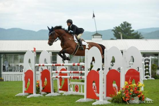 Laura Chapot and Out of Ireland, winners of the $5,000 Lake Placid CVB 1.40 Power and Speed Stake