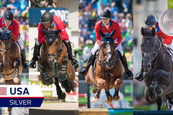 The U.S. Show Jumping Team has won the Silver medal at the Rio 2016 Olympic Games.