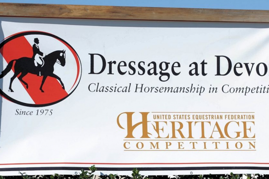 Dressage at Devon Banner