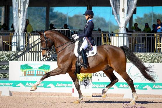 Laura Graves and Verdades won the Grand Prix CDI-W at the opening week of the Adequan® Global Dressage Festival. Photo © SusanStickle.com