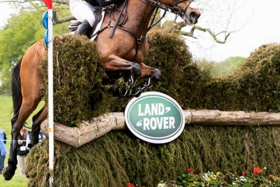 Oliver Townend and Cooley Master Class jumped perfectly to keep their top place at the Land Rover Kentucky Three-Day Event presented by MARS EQUESTRIAN. Michelle Dunn Photo