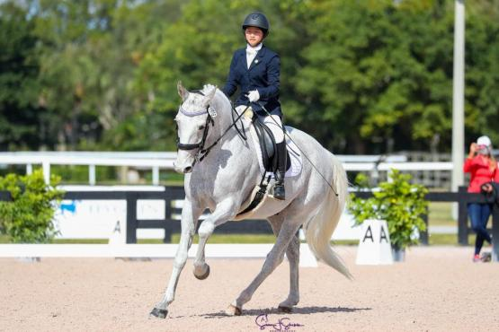 Young Rider and USPC member Andie Sue Roth and Aniko, owned by Lisa Hellmer of LCH Equestrian in Ocala