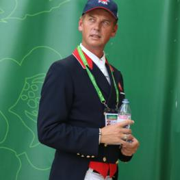 Carl Hester, co owner of Valegro and Charlotte's trainer is the third member of the Gold Medal Team!