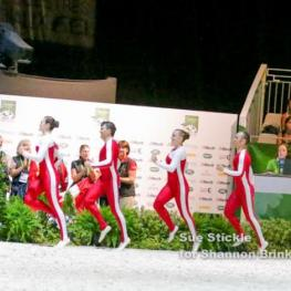 The Canadian Vaulting Team competed as a squad for the first time in history on September 2 at the Alltech FEI World Equestrian Games in Normandy, FRA.   Photo Credit: Sue Stickle for Shannon Brinkman Photography