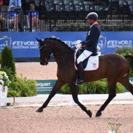 Frank Hosmar and Alphaville N.O.P. Silver Medal in the Grade V Para Dressage. (Photo: ©Sportfot)