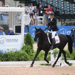 Pepo Puch and Sailor Blue Silver Medal in Grade II. (Photo: ©Sportfot)