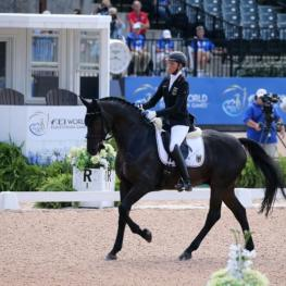 Regine Mispelkamp and Look At Me Now earn Bronze in the Grade V Para Dressage. (Photo: ©Sportfot)