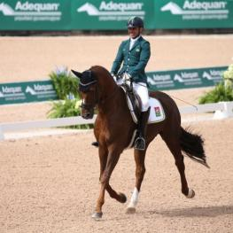 Rodolpho Riskalla and Don Henrico - Silver Medal in the Grade IV Para Dressage. (Photo: ©Sportfot)